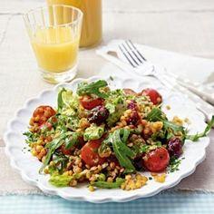 Rote-Linsen-Salat mit Rucola & Kirschtomaten