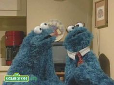 """Touching Drama - The Cookie Monster and His Dad in a Monsterpiece Theater Episode: """"Conservations With My Father""""  :-)"""