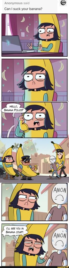 Janna Banana responds to a very inappropriate comment . You don't know how much I love this.