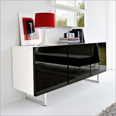 Sideboards have become a feature piece in many homes around the country and like many pieces of household furniture they have a history. Modern Furniture, Furniture Design, Modern Buffet, Wood Sideboard, Glass Shelves, Living Room Designs, Seattle, Interior Design, Storage
