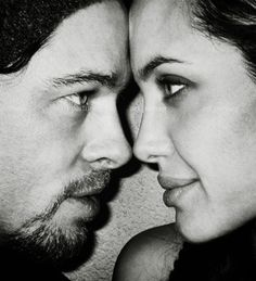 i REALLY love this photo, for like a wedding photo, and have it blown up in your apt after the wedding! Photo:Brad + Angelina