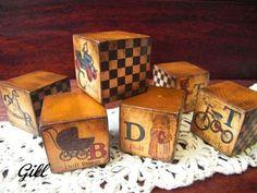 """Развивающие игрушки ручной работы. Ярмарка Мастеров - ручная работа. Купить Кубики """"Алфавит"""". Handmade. Кубики, Декупаж, буквы"""