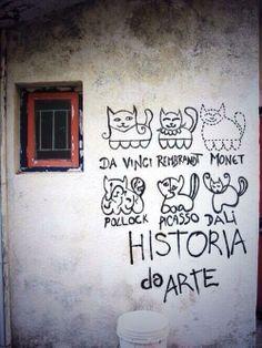 kedilerle sanat tarihi