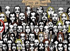 """Riuscite a trovare il panda in versione """"heavy metal""""? Il nuovo rompicapo di Imgur"""