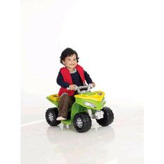 Amazon.com: Power Wheels Fisher-Price Lil Kawasaki Boys Sport Quad