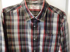 Penguin Designer Red/Black Plaid Heritage Slim Fit Shirt SZ 2XL Mint Must See #Penguin #ButtonFront