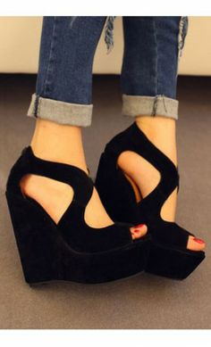 Super-High Heel Pump Platform Wedge Women Shoes Sandals