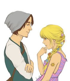 Modern Rapunzel and Flynn I love everything about this