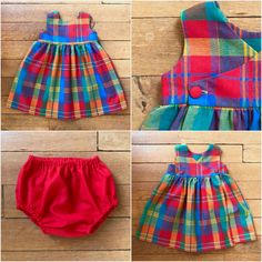 Si on partait! Kids Dress Wear, Baby Dress, Teddy Bear Clothes, Kids Dress Patterns, Baby Frocks Designs, Baby Suit, Baby Sewing Projects, Frock Design, Kids Frocks