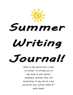 Send this home the last day of school for the students to write in over the summer. It encourages writing, grammar, phonetic, spelling, and handwri...