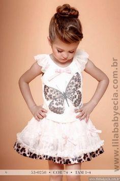 Conjunto Animal Print Blusa Com saia Miss Cake Moda Infantil 530250