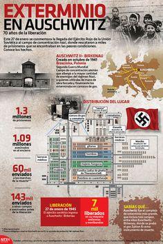 Este martes 27 de Enero se cumplieron 70 años de la liberación de 1.3 millones de prisioneros del campo de concentración nazi en Auschwitz, Polonia. #Infographic