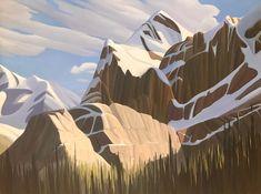 Ken Harrison - Brightening Up Mount Biddle 36 x 48 Oil on canvas (2021) Antelope Canyon, Oil On Canvas, Landscape, Artist, Nature, Travel, Scenery, Naturaleza, Viajes