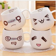 Free shipping hot sales ceramic coffee and water cup,drinking mugs cup, creative fashion cup,write message cup,four models K-C02 US $9.90