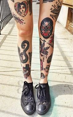 Women With Leg Tattoos, Leg Tattoos For Women, Amazing Tattoos On Women Leg, Unique Designs Of Wome Leg Tattoos, Incredible Women Legs Designed With Tattoos
