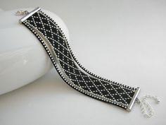 Bracelet fait main perles de rocaille Miyuki noir et argenté  | Bijoux, montres, Bijoux fantaisie, Bracelets | eBay!