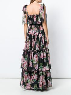 Dolce & Gabbana フローラル ティアードドレス