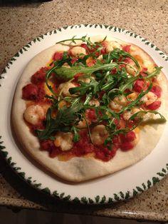 Pizza con Gamberi.