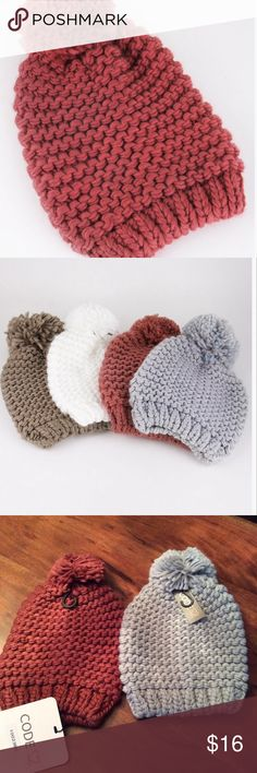 Beanie One size.  Wine color Accessories Hats