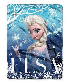 Love this Frozen Elsa 'Sparkling Ice' Throw by Frozen on #zulily! #zulilyfinds