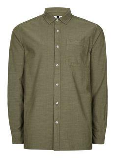 Classic Khaki Casual Shirt - Collared Shirts - Clothing - TOPMAN USA