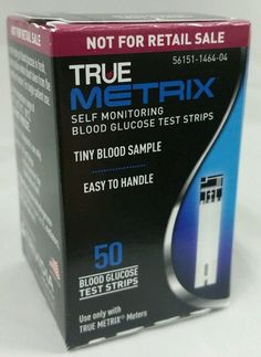 Blood+Glucose+50+Test+Strips+Exp:+10/26/2017-+TRUE+Metrix