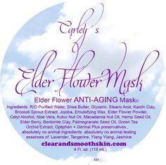 Carley's Elder Flower Mask for Normal to Dry Skin by Carley's Clear & Smooth. $18.00. Reduces fine lines and sagging skin while improving skin texture and flexibility. 4 oz jar of anti-aging mask. Perfect for normal to dry skin. pH neutral for your safety.. Jam-packed with unique valuable botanicals. Benefits from as little as 5 minutes once a week. Let me tell you a short story how we came up with this mask.   Our very first product back in 1999 was an scrub for acne. Eventual...