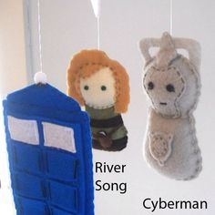 Dr. Who mobile Baby Crib Mobile Tardis Doctor Who by FoxFluff