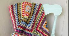 This one was so easy, then it was so hard.  I made twelve twenty-round granny squares, using odds and ends from my scraps basket, and it w...