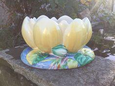 Clarice Cliff Lotus Planter, 1930s Clarice Cliff Flower Bowl, Art Deco Planter  | eBay