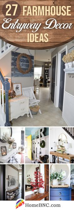 27 Inspiring Farmhouse Entryway Decor Ideas to Bring a Bit of the Country to You. 27 Inspiring Farmhouse Entryway Decor Ideas to Bring a Bit of the Country to Your Door Entrance Decor, Entryway Decor, Entryway Tables, Entryway Ideas, Entrance Ideas, Farmhouse Design, Farmhouse Decor, Farmhouse Ideas, Farmhouse Small