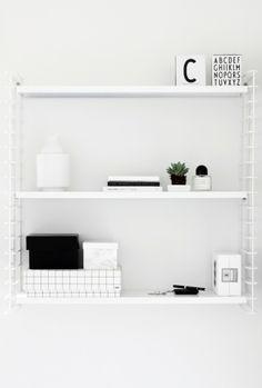 String shelves.