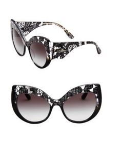 a231d438bc32 DOLCE   GABBANA Cat Eye Acetate Sunglasses.  dolcegabbana
