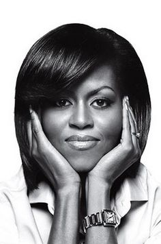 Simple elegance + flawless face.  Michelle Obama.