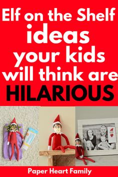 These funny Elf on the Shelf ideas are guaranteed to make your kids or toddler laugh each morning as you countdown to Christmas! And even though they are hilarious, they are also really easy to set up. Funny Christmas Games, Christmas Party Games, Christmas Activities, Christmas Countdown, Christmas Elf, Christmas Humor, Christmas Traditions, Holiday Fun, Activities For Kids