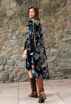.: Kimono largo terciopelo