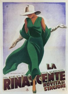 La Rinascente (upscale Italian department store) courtesy of Vintage Advertising and Poster Art