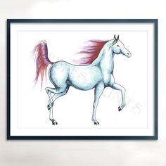 Horse+In+Watercolor++Instant+Download++Horse+by+PebblesPrints,+$7.50
