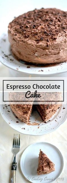 Espresso Chocolate Cake - Chocolate and Coffee – the unbeatable combination comes together in this Espresso Chocolate Cake, where every bite is delightful! Easy Desserts, Delicious Desserts, Yummy Food, Baking Recipes, Cake Recipes, Dessert Recipes, Chocolate Desserts, Cake Chocolate, Chocolate Coffee