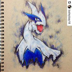 Lugia  . . #pokeart #lugia #Pokemon #pokemoncards #pokemonart #Draw #Drawing #Art #Fanart #Artist #Illustration #Design #sketch #doodle #tattoo #Arthelp #Anime #Manga #Otaku #Hipster #Gamer #Scene #Nerdy #Alternative #Nerd #Comic #Kawaii #Geek . . Geek drawings gallery.  Use #ArtForGeeks for a chance to be featured  Artist credit