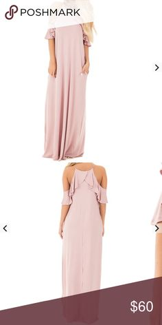 Dusty pink maxi dress Such a great summer dress! Dresses Maxi
