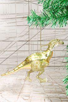 Green Dino Daz Christmas Decoration