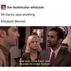 Mr Darcy, Drama Memes, Parks, Classic Literature, Book Memes, Pride And Prejudice, Period Dramas, Romance, Book Worms