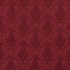 Burgundy or Red or Rust color Beach or Nautical and Tropical pattern Brocade or Matelasse and Damask or Jacquard type Upholstery Fabric called WINE or PINEAPPLE by KOVI Fabrics Needlework Shops, Textiles, Upholstery Cleaner, Tropical Pattern, Jacquard Weave, Fabric Samples, Textures Patterns, Damask, Fabric Design