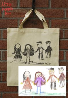 Items similar to Personalized tote bag with your child drawing personalized gift custom handmade organic tote bag on Etsy Personalized Tote Bags, Unique Gifts, Handmade Gifts, People Art, Drawing For Kids, Little People, Your Child, Screen Printing, Reusable Tote Bags