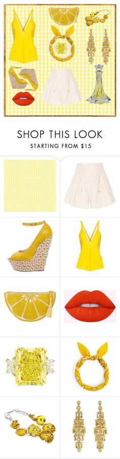 """""""Aries' Picnic"""" by wngkrsus ❤ liked on Polyvore featuring Zimmermann, Giuseppe Zanotti, Liviana Conti, Kayu and Queen Bee"""