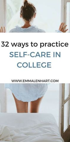 32 Self-Care Ideas to Practice in College   Fantastic list of 32 self-care ideas and activities to practice. Find something to calm yourself when you are feelings stressed or overwhelmed in college. Reduce stress or anxiety with these self-care activities! Start a new self care routine to get your life in balance.