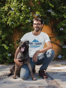 """You Cant Buy Love Unisex Short-Sleeve T-Shirt """"You Can't Buy Love But You Can Rescue it"""" Share your love and spread the word about rescue! Bella + Canvas Unisex Jersey Short-Sleeve T-Shirt, combed and ringspun cotton, 30 singles Dog Lover Gifts, Dog Gifts, Dog Lovers, Cool Presents, Schaefer, Easy Costumes, Shirt Mockup, Dad To Be Shirts, Unisex"""