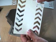 ▶ Tip on Stampin'Up! Chevron Boarder Punch frenchiestamps.com - YouTube