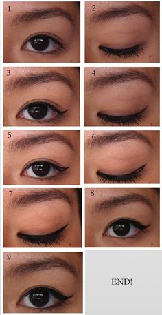 DIAGONALLL: Winged Eyeliner Tutorial for Asians! (double eyelids)